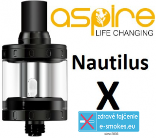 aSpire Nautilus X clearomizer 2 ml 1,5 ohm - čierny