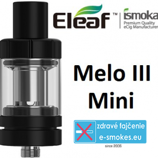 ISMOKA-ELEAF MELO3 mini clearomizér 2,0ml čierny