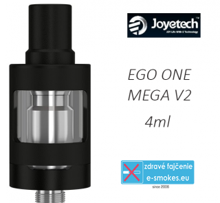 Joyetech clearomizer eGo ONE Mega V2  4,0 ml - čierny