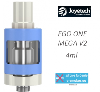 Joyetech clearomizer eGo ONE Mega V2  4,0 ml - modrý