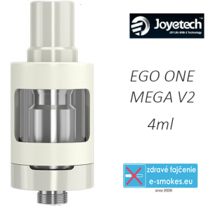 Joyetech clearomizer eGo ONE Mega V2  4,0 ml - biely