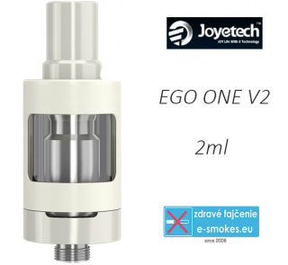 Joyetech clearomizer eGo ONE V2  2,0 ml - biely