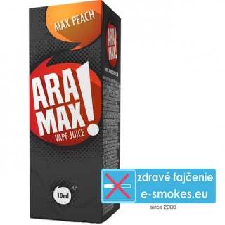 e-liquid ARAMAX Max Peach 10ml (0mg nikotínu/ml)