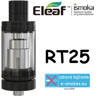 iSmoka - Eleaf Melo RT25 clearomizer 4,5 ml - čierny