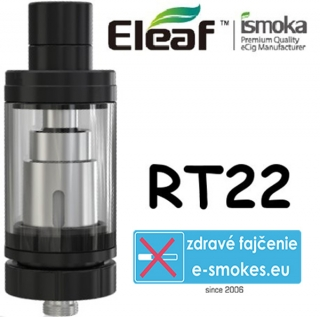 iSmoka - Eleaf Melo RT22 clearomizer 3,8 ml - čierny