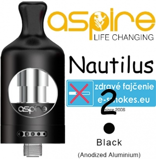 aSpire Nautilus 2 clearomizer 2 ml - čierny
