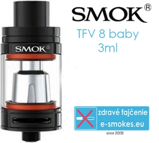 SmokTech TFV8 Baby clearomizer 3ml - čierny