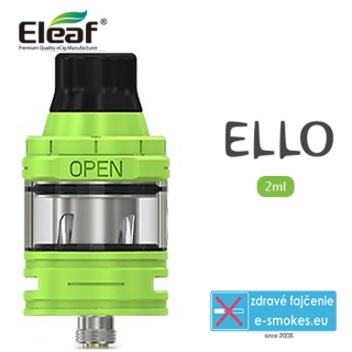 iSmoka - Eleaf  clearomizer ELLO eu 2,0ml - zelený