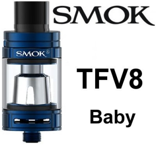 SmokTech TFV8 Baby clearomizer 3ml - modrý