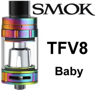 SmokTech TFV8 Baby clearomizer 3ml - rainbow