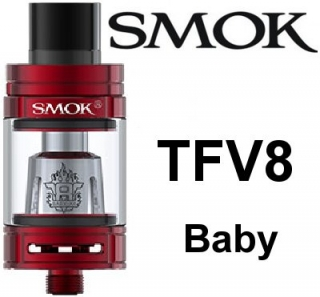 SmokTech TFV8 Baby clearomizer 3ml - red