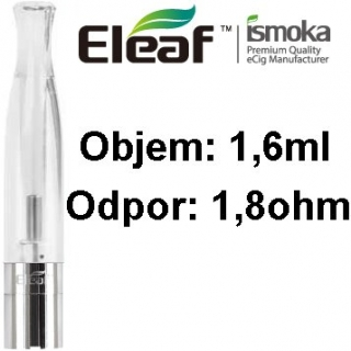 Eleaf (iSmoka) BCC-CT clearomizér 1,6ml - číra