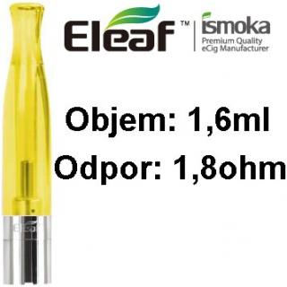 Eleaf (iSmoka) BCC-CT clearomizér 1,6ml - žltá