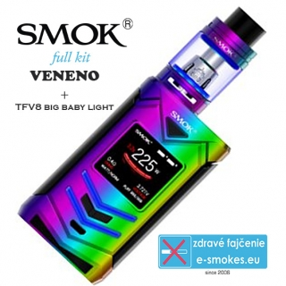 Smoktech full kit VENENO s TFV8 Big Baby Light  - rainbow