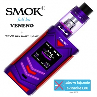 Smoktech full kit VENENO s TFV8 Big Baby Light  - fialovo červený