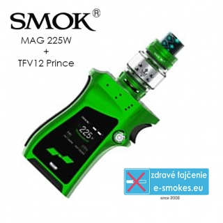 Smoktech full kit MAG TC225W s TFV12 Prince - zelený