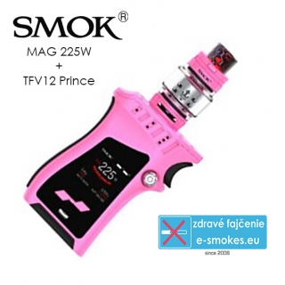 Smoktech full kit MAG TC225W s TFV12 Prince - ružový