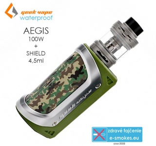 GeekVape full kit AEGIS s SHIELD 4,5ml - zelená kamufláž