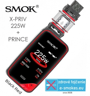 Smoktech full kit X-PRIV s TFV12 Prince - black red