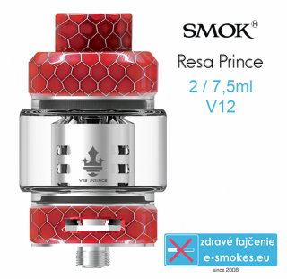 Smoktech RESA Prince clearomizér 7,5ml - RED