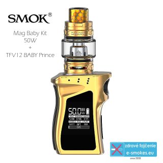 Smoktech full kit MAG BABY TC50W s TFV12 Baby Prince - gold