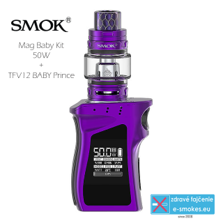 Smoktech full kit MAG BABY TC50W s TFV12 Baby Prince - purple