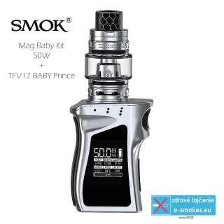 Smoktech full kit MAG BABY TC50W s TFV12 Baby Prince - silver