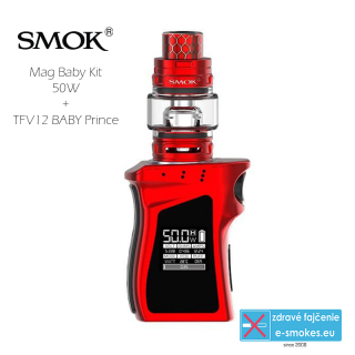 Smoktech full kit MAG BABY TC50W s TFV12 Baby Prince - red