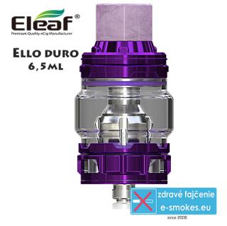 iSmoka - Eleaf clearomizer ELLO DURO 6,5ml - fialový