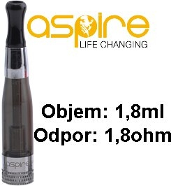 aSpire CE5 BDC clearomizer 1,8 ml 1,8 ohm - čierny