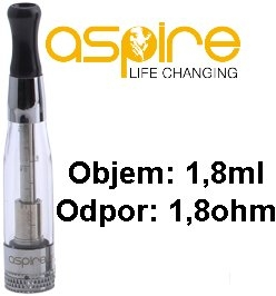 aSpire CE5 BDC clearomizer 1,8 ml 1,8 ohm - číry