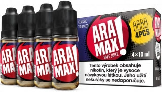 ARAMAX 4Pack Classic Tobacco 4x10ml 6mg