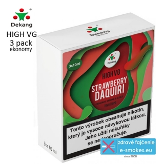 Dekang High VG 3Pack Strawberry Daquiri 3x10ml 0mg