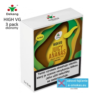 Dekang High VG 3Pack Juicy Ananas 3x10ml 0mg