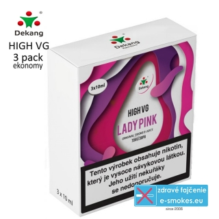 Dekang High VG 3Pack Lady Pink 3x10ml 0mg