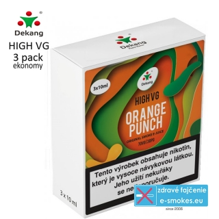 Dekang High VG 3Pack ORANGE PUNCH 3x10ml 0mg
