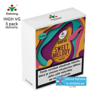Dekang High VG 3Pack SWEET MELODY 3x10ml 0mg