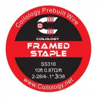 Coilology Framed Staple SS316 28/38 - 3m