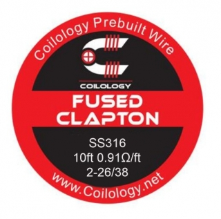 Coilology Fused Clapton SS316 26/38 - 3m