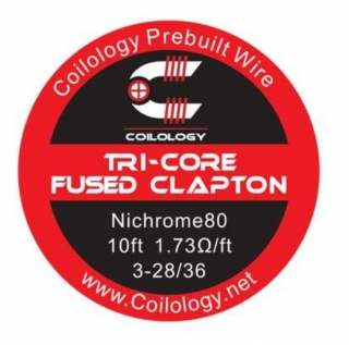 Coilology Tri-Core Fused Clapton Ni80 28/36 - 3m