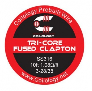 Coilology Tri-Core Fused Clapton SS316 28/38 - 3m