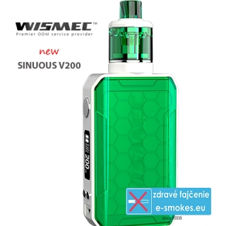Wismec full kit Sinuous V200 - zelená