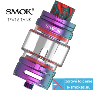 Smoktech TFV16 Tank clearomizér 9,0ml - 7 color