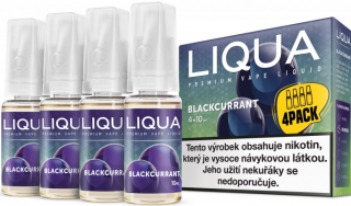 LIQUA Elements 4pack BLACKCURRANT 4x10ml 6mg nikotínu