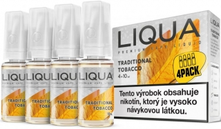 LIQUA Elements 4pack TRADITIONAL TOBACCO 4x10ml 6mg nikotínu