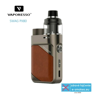 Vaporesso full kit SWAG PX80 - Leather Brown