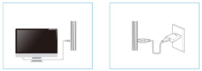 nabijanie batérie pomocou micro usb/usb kábla