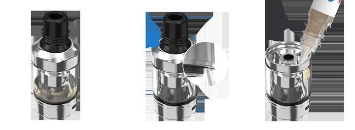 vrchné plnenie tanku exceed X e-liquidom