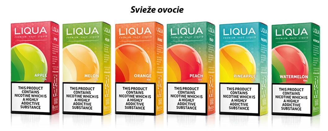 6 príchutí Liqua, ktorá ponúka neuveriteľnú sviežosť ovocie