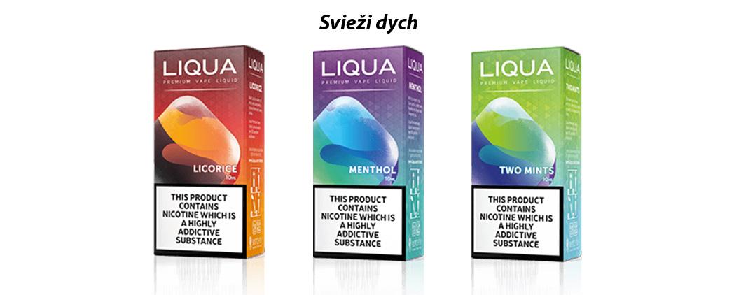 3 príchute liqua, ktoré ponúkajú svieže príchute mentolu a lekorice